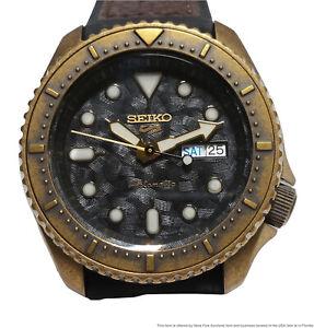 Seiko 5 SRPE80K1 Automatic Day Date Bronze Finish Mens Watch 4R36-09A0