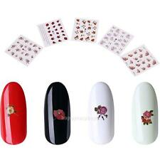 50pcs DIY Flower Nail Art Water Transfer Stickers Manicure Decal Tips Decoration