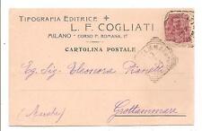 MILANO  -  TIPOGRAFIA EDITRICE L. F. COGLIATI - Corso P. Romana - 17