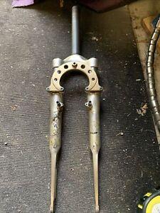 "Retro marzocchi Xc600 Vintage Suspension Forks Air Lightweight 1 1/8"" Rare"