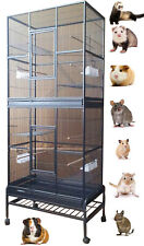 """76"""" Large Double Stackable Ferret Hamster Rat Mice Guinea Pig Chinchilla Cage"""