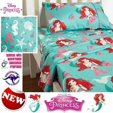 NEW DISNEY PRINCESS ARIEL MERMAID SHEET SET SCENTED ~ DOUBLE OR QUEEN GIRLS GIFT