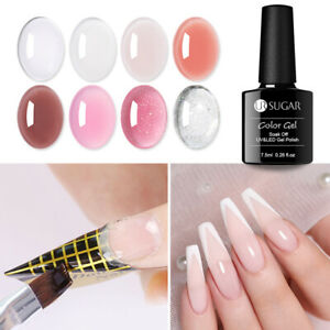 7.5ml UR SUGAR UV LED Quick Extension Gel Nail Polish Pink Clear Color Nail Art
