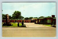 Chrome View of South Wind Motel, AAA, c1956, Rock Island IL, Postcard X21