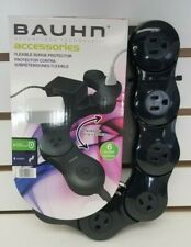 BAUHN USB FLEXIBLE SURGE PROTECTOR 6 POWER OUTLET BLACK