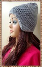PERU 10 ALPACA REVERSIBLE CHULLO HAT WITH EARFLATS NATURAL COLORS FREE SHIPPING!