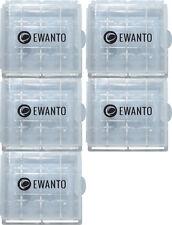 5x EWANTO Aufbewahrungsbox AAA / AA Batterie Batteriebox Mignon Micro Akku Box