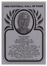 FRED BILETNIKOFF 1988 Football Hall of Fame Metallic Metal Card Raiders NM - MT