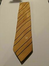 Vintage Cantini Fina Tie Hand Made in Italy Mustard Yellow 100% Silk