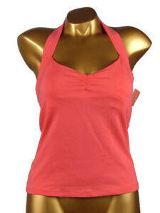 Arianne - Size M - Top Backless 5480, Color: Tangerine (Coral)