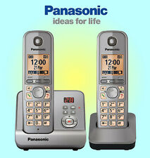 Panasonic KX-TG6722 Digital DECT Cordless Telephone and Answering System Silver