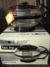 Tea Pot with Infuser - 18 oz Stainless Steel Infuser, Glass Carafe, New