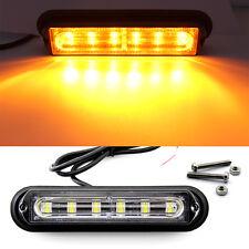 6 LED Car Truck Trailer RV Boat Emergency Light Bar Hazard Strobe Warning Amber