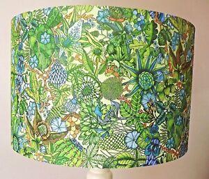 Green Leaves Lampshade, vintage , shabby chic, jungle, mandala, FREE GIFT