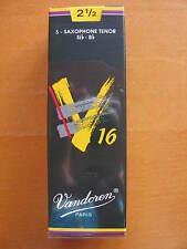 Vandoren V16 Tenorsaxophonblätter Stärke 2,5  EINZELBLATT