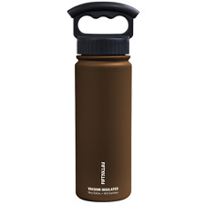 Fifty/Fifty 18oz MOCHA BROWN Insulated Stainless Steel Water Bottle 3 Finger Lid