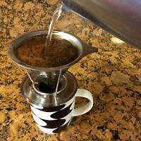 Stainless Steel Mesh Coffee Filter Permenant Pour Over Cone Dripper Reusabble US
