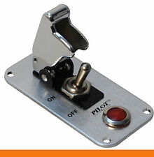 Chrome Anodized Safety Cover Aircraft Boat Toggle 12V Switch Red Indicator Light