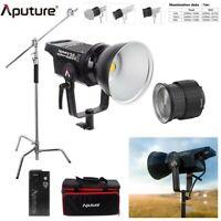 Aputure LS 120d Mark II Light Storm LED Video Light Kit + Fresnel Mount& C Stand