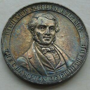 1846 Richard Cobden & Sir Robert Peel Repeal of the Corn Laws Medal 39mm 13.62g