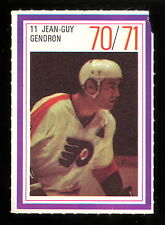 1970-71 ESSO POWER PLAYERS NHL 11 JEAN GUY GENDRON EX FLYERS UNUSED HOCKEY STAMP