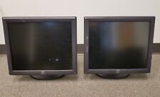 """Lot of 2 Elo Touch E719160 ET1715L 17"""" Touchscreen Monitors Stand Cables POS LCD"""