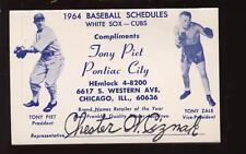 1964 Chicago White Sox /  Cubs Pocket Schedule NRMT