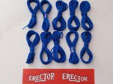 10 Hanks of Blue String & Erector Set Flag-For Erector Sets