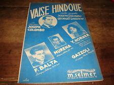 HORNER - BALTA - MURENA - PARTITION VALSE HINDOUE !!!!!