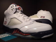 Nike Air Jordan V 5 Retro OLYMPIC INDEPENDENCE DAY WHITE BLUE RED 136027-103 7