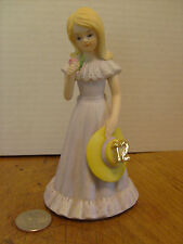 "Growing up Birthday Girl ""12"" Blonde 1981 Enesco Rb-3a"