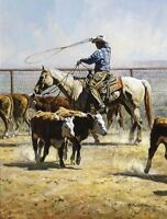 """In the Texas Dust"" Martin Grelle Limited Edition Fine Art Giclee Canvas"