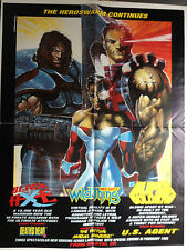 1993 Marvel UK Promo Poster Black Axe Wildthing Super Soldiers