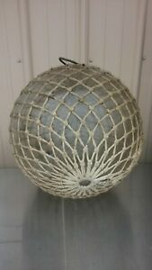 HUGE Vintage Glass Fishing Float Ball Large 16 inch diameter Chesapeake Bay MD