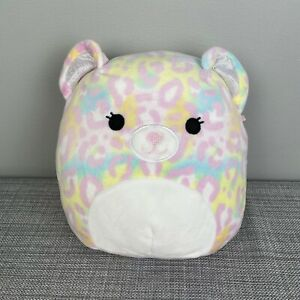 "Squishmallows Kellytoy Michaela Pastel Leopard Bear 8"" Plush 2020"