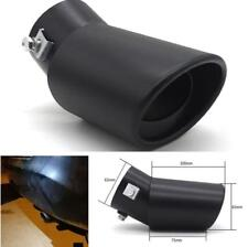 62MM Car Exhaust Tip Pipe Tail Muffler Stainless Steel Bend Style Black Matte