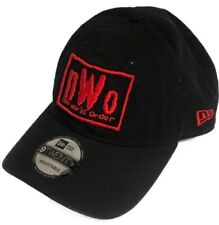 NWO New World Order WWE Wrestling New Era 9Twenty Strapback Black Red Hat Cap