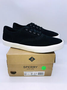 Sperry Top-Sider Men's Striper II CVO Casual Sneakers Black Suede  US 8.5M
