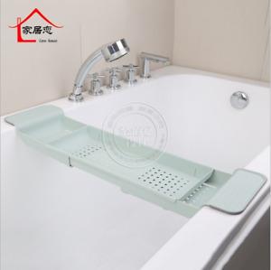 1x Extandable Over Bath Rack Organiser Shower Tray Tub Caddy 3 Compartment Shelf