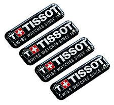 4 x Domed 3D Tissot Stickers Auto Moto Tuning Rally Racing Sponsor Sport E 33