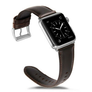 Genuine Leather Strap for Apple Watch Replacement Band Iwatch Bracelet 38mm-44mm