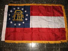 3x5 Georgia State Poly Nylon Sleeve w/ Gold Fringe Flag 3'x5' Banner