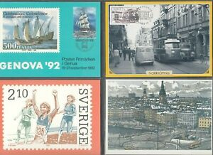 Sweden Maximum Cards and Postcards   Mint and First Day of Issue