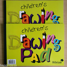 2 x NEW - CHILDRENS DRAWING PAD - Sketch Art Artist Paper Book - TWO BOOKS PADS