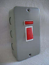 Windsor Metal Clad 45a DP Switch With Neon Cooker Switch Hob Switch X2