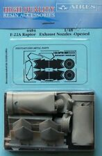 Aires 1/48 F-22A Raptor Exhaust Nozzles Opened for Hasegawa kit # 4484