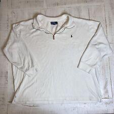 Polo Ralph Lauren Sweater Mens 3XB Big 3X Beige Pullover 1/4 Zip