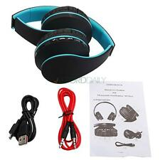 Wireless Bluetooth Headset FM Stereo Headphones Earphone MP3 Player Universal US