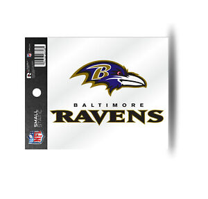 Baltimore Ravens Static Cling Sticker NEW!! Window or Car 3x4 Inches