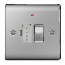 Masterplug Nbs52 13 A Metal Brushed Steel Switched Fused Connection Unit with